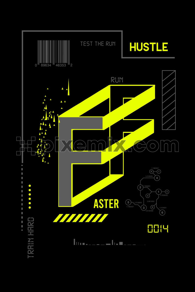 Modern technology backgroung, athleisure vector product graphic