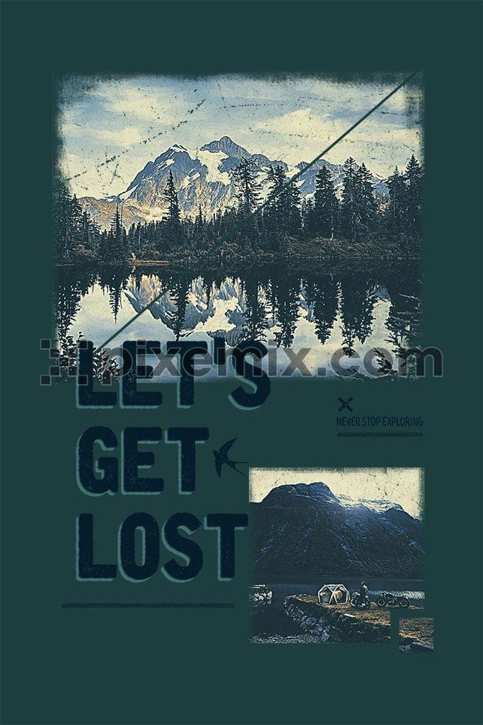 let's get lost inspired product graphic