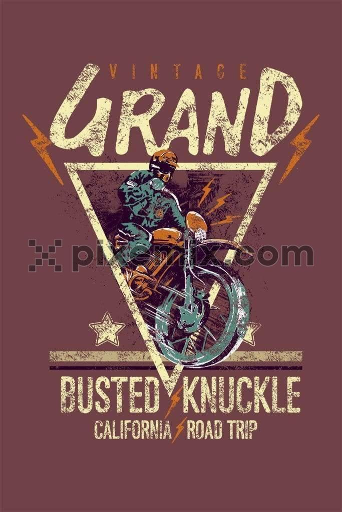 Motorcycle vintage grand product graphic