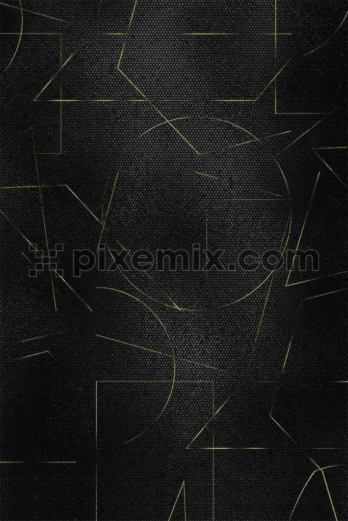 Abstract neon shape pattern product graphic
