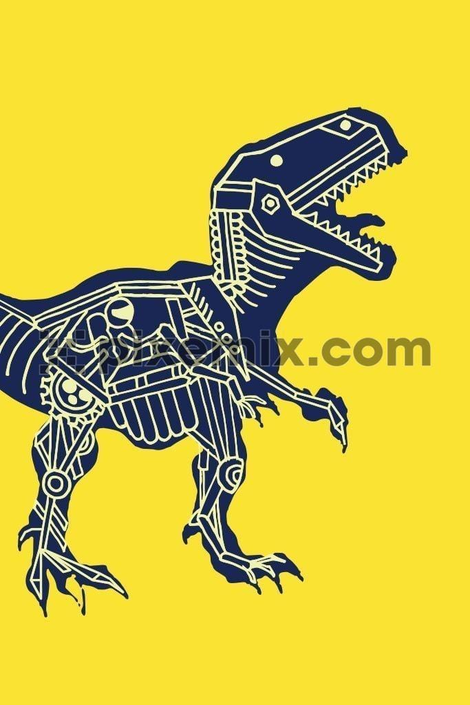 Dinosaur geometric fossil  vector product graphic