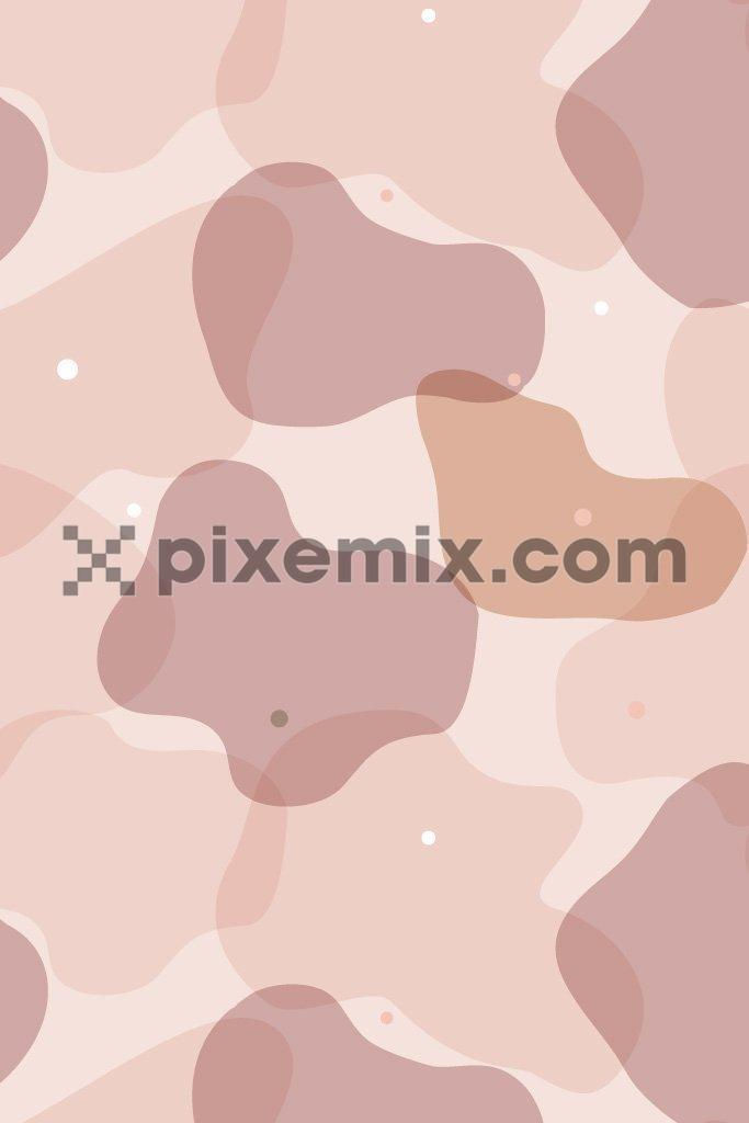 Amoeba inspired pastel camo product graphic seamless pattern