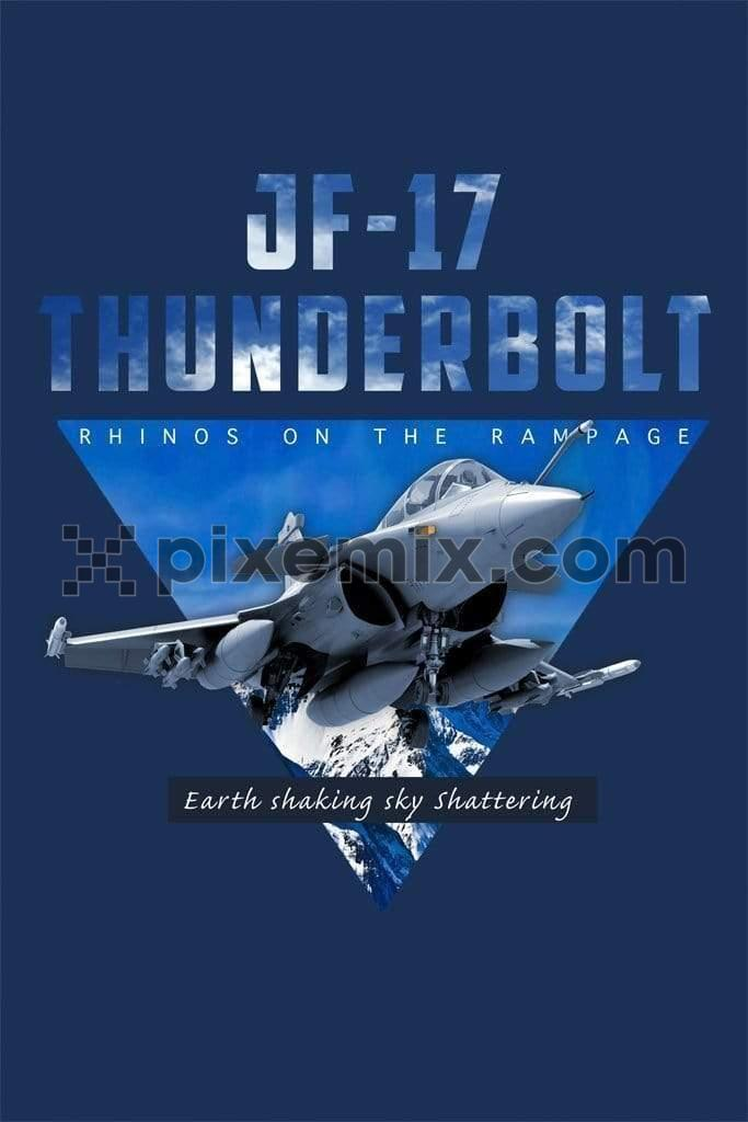 JF-17 thunder fighter jet product graphic