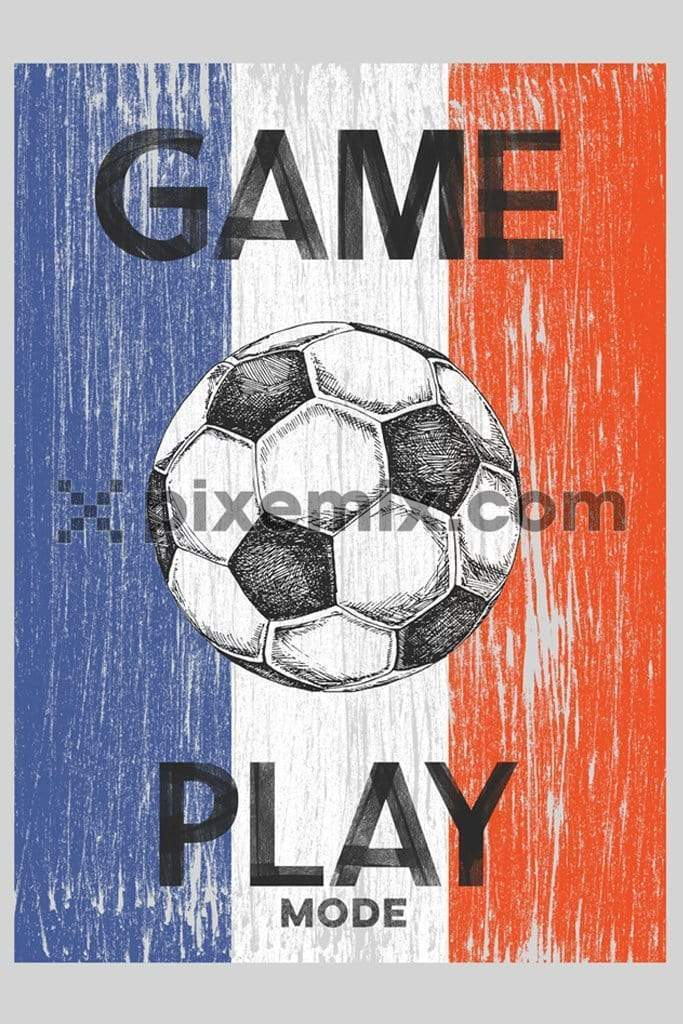 French soccer product graphic with typography