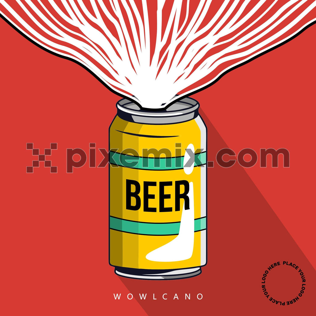Beer can wowlcano social media static post