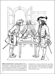 Blackbeard and Other Notorious Pirates Coloring Book