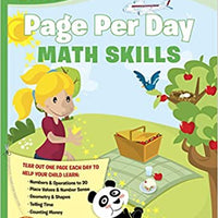 First Grade Page Per Day: Math Skills by Sylvan Learning
