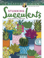 Stunning Succulents Coloring Book