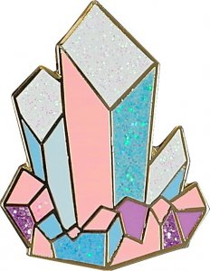 Crystals Enamel Pin