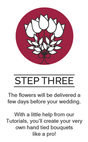 Step 3, assemble your flowers
