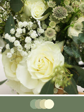 Load image into Gallery viewer, Sage and cream flower bouquet