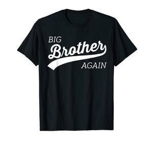 Big Brother Again Shirt for Boys with Arrow and Heart