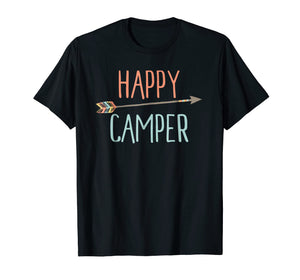 Arrow Happy Camper TShirt Camping TShirt