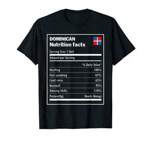 Dominican nutrition facts Dominican Republic Funny T-shirt