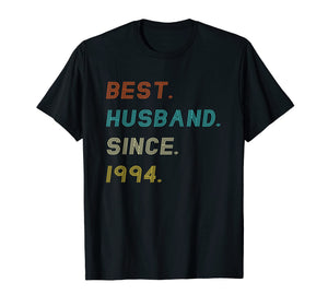 Mens 25th Wedding Anniversary Gifts Best Husband Since 1994 Shirt