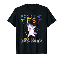 Load image into Gallery viewer, Rock The Test Funny School Professor Teacher Joke T-Shirt
