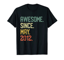 Load image into Gallery viewer, Awesome Since May 2012 T-shirt Vintage 7th Birthday Gift
