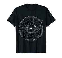 Load image into Gallery viewer, Constellation Shirt Vintage Retro Sky Map T-shirts