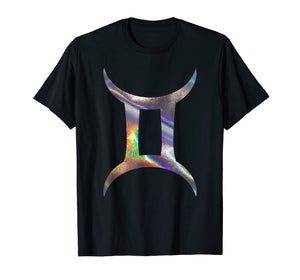 print gemini t shirt horoscope top zodiac astrology tshirt