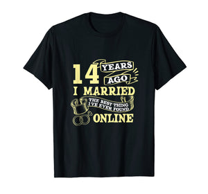 Anniversary Gift T-Shirt For 14 Years Marriage Couple Tee