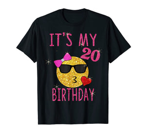 It's My 20th Birthday Shirt 20 Years Old 20th Birthday Gift