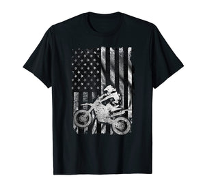 American Flag Motocross Shirt - Vintage Dirt Bike T Shirt