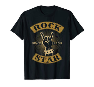 1959 Rock-Star Birthday Vintage Classic Rock and Roll Band n