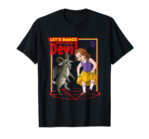Let's Dance with the Devil T-Shirt Satanic Baphomet game