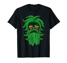 Load image into Gallery viewer, Cool THC Hemp Leaf Bearded Jay Wake And Bake Hippie Tshirts