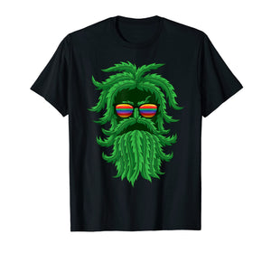Cool THC Hemp Leaf Bearded Jay Wake And Bake Hippie Tshirts