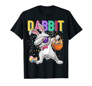 Dabbit Dabbing Easter Bunny Shirt Easter Egg Basket Gift Kid
