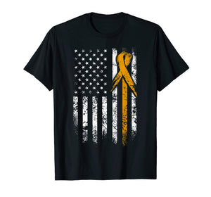 Leukemia Awareness T-Shirt, American Flag Grunge Shirt