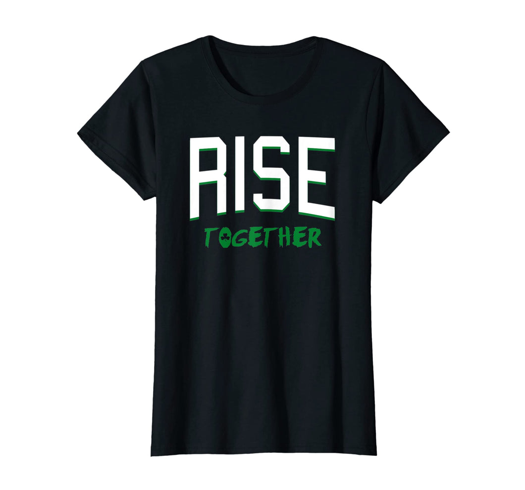 Boston Massachusetts Rise Together Shamrock T-shirt