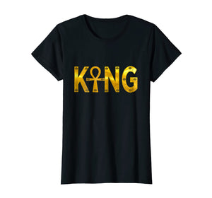 KING HUSBAND MAN T-SHIRT WITH EGYPTIAN ANKH COUPLE