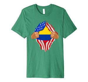 Colombian Blood Inside Me T-Shirt | Colombia Flag Gift