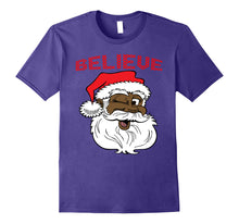 Load image into Gallery viewer, Black Believe Santa Claus Shirt - Fun African American Santa