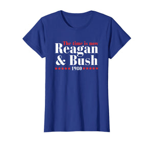 Reagan Bush 80 Ronald Reagan 1980 Campaign T-Shirt