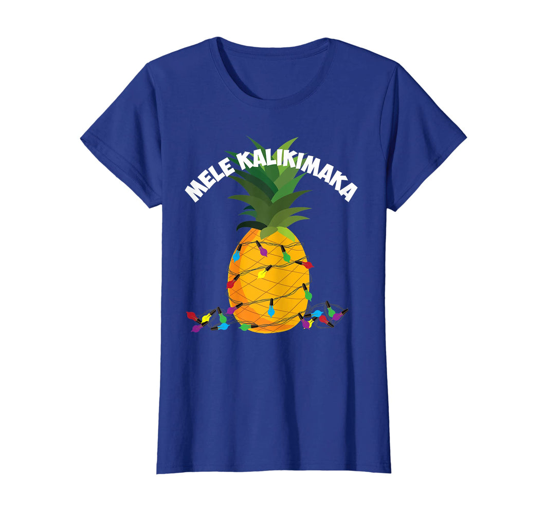 Mele Kalikimaka Shirt | Hawaiian X-Mas Pineapple Lights Gift