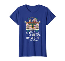 Load image into Gallery viewer, A Girl And Her Dog Living Life In Peace T-Shirt Peace Day