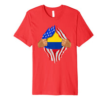 Load image into Gallery viewer, Colombian Blood Inside Me T-Shirt | Colombia Flag Gift
