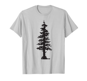 Evergreen Tree and Hiker Silhouette T-Shirt