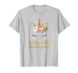 Matching Brother of the Birthday Girl Shirt, Unicorn Brother