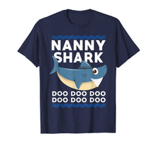 Load image into Gallery viewer, Nanny Shark Shirt For Matching Family Pajamas