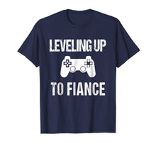 Load image into Gallery viewer, Leveling Up To Fiance Tshirt | New Fiance Video Gamer Tee