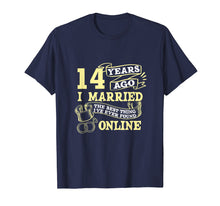 Load image into Gallery viewer, Anniversary Gift T-Shirt For 14 Years Marriage Couple Tee