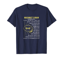 Load image into Gallery viewer, Machinist's Brain Funny T Shirt