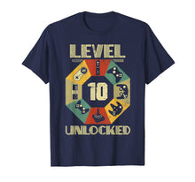 Load image into Gallery viewer, Level 10 Unlocked T Shirt Funny Video Gamer 10th Birthday