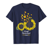Load image into Gallery viewer, Autism Mom Dad Shirt Gifts Sunflower Autism Puzzle Piece