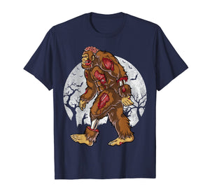 Bigfoot Zombie T shirt Halloween Kids Men Sasquatch Zombies
