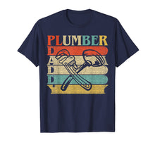 Load image into Gallery viewer, Retro Vintage Daddy Plumber T-Shirt Funny Plumbing Dad Gift
